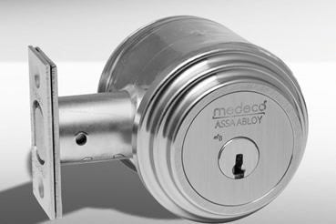 Medeko Residential deabolt installation by Norcross master locksmith